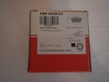 Bremsbeläge VW T4 VA - 7D0698151 B / G  FBP-0938-01